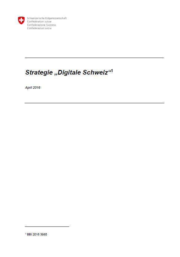 "Strategie ""Digitale Schweiz"""